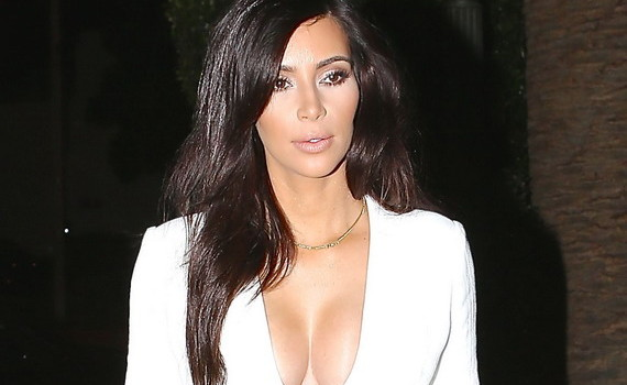Kim Kardashian - White Dress Candids