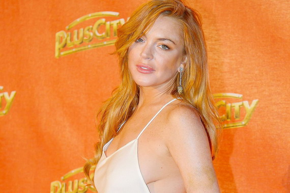 Lindsay Lohan sideboob - The White Party