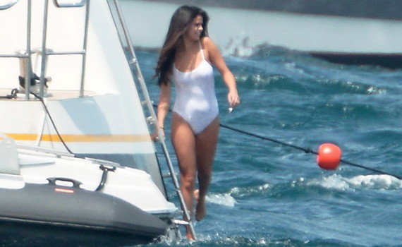 Selena Gomez - swimsuit candids on a boat in St. Tropez