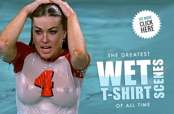 Celebs in Wet T-Shirts
