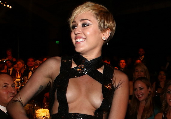 Miley Cyrus - amfAR LA Inspiration Gala in Hollywood