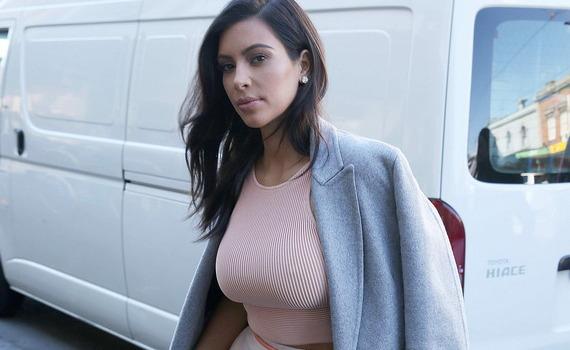 Kim Kardashian - busty candids in Melbourne