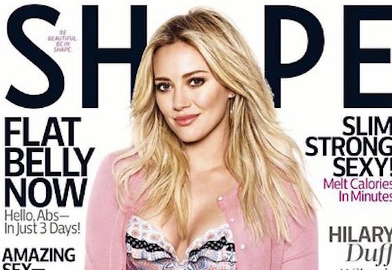 Hilary Duff covers Shape Magazine