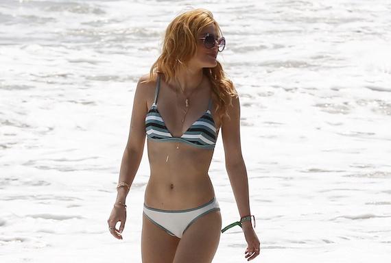 Bella Thorne - bikini candids in L.A.