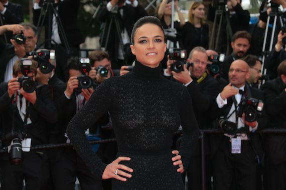 Michelle Rodriguez see-through - Cannes Film Festival