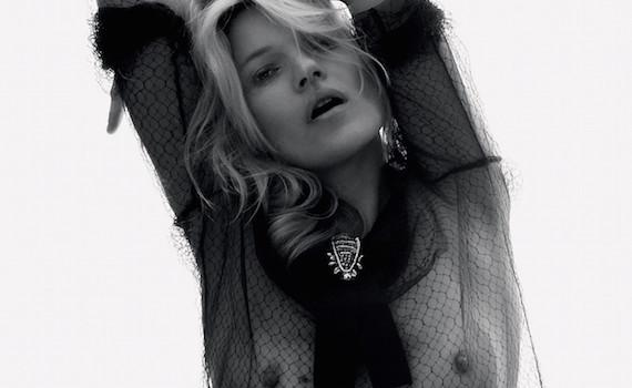 Kate Moss see-thru - David Sims Photoshoot for Love