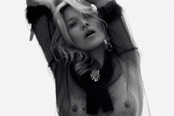 Kate Moss see-thru - David Sims Photoshoot for Love
