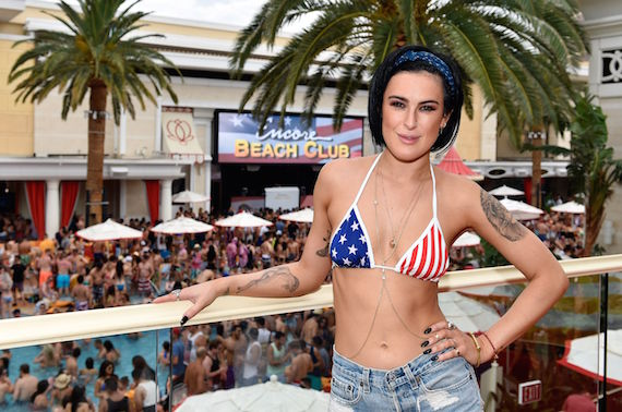 Rumer Willis - bikini candids in Las Vegas