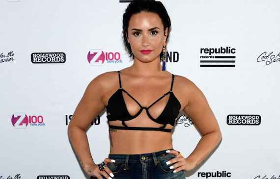 Demi Lovato - Z100 'Cool for the Summer' Pool Party Tour in NYC