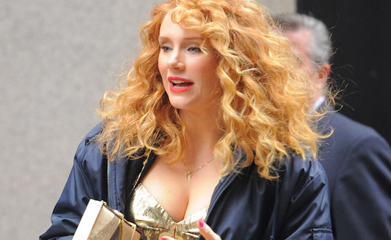 Bryce Dallas Howard on the set of Gold in New York