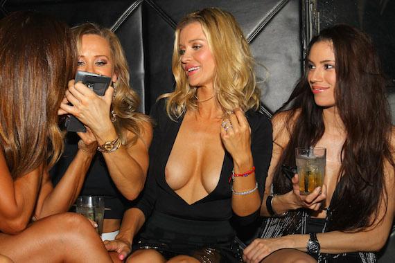 Joanna Krupa nip-slip - Mynt Lounge in Miami