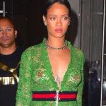 Rihanna braless – see-thru candids in New York