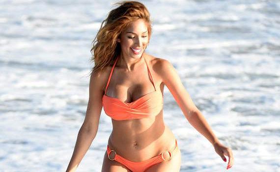 Farrah Abraham - bikini photoshoot candids on the beach in LA
