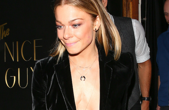 LeAnn Rimes - braless at The Nice Guy in West Hollywood