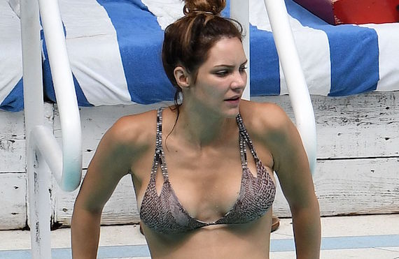 Katharine McPhee -  bikini candids in Miami