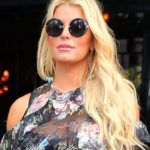 Jessica Simpson – See-thru to bra, candids in NY