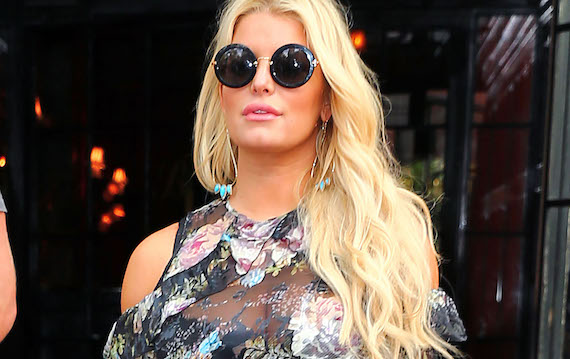 Jessica Simpson - See-thru to bra, candids in NY