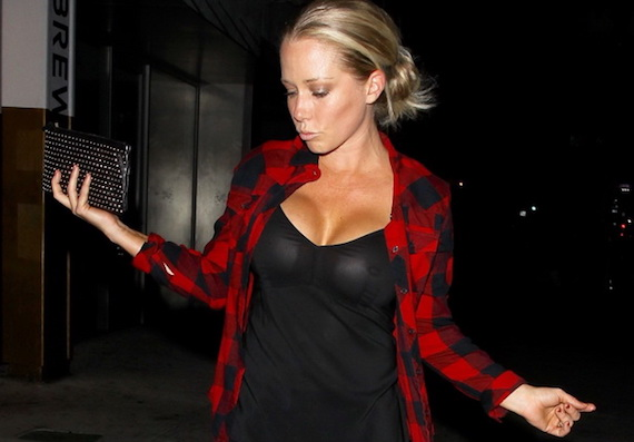 Kendra Wilkinson Braless In See Through Top In Hollywood and other Daily Links