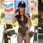 Ana Braga - Sexy Hallloween Police Costume in Studio City