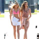 Josephine Skriver & Romee Strijd - Victoria's Secret photoshoot in Venice Beach