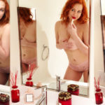 Maitland Ward - topless for National Kiss a Ginger Day