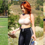 Courtney Stodden - see through top in the Hollywood Hills