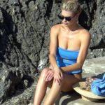 Charlotte McKinney – bikini candids in Capri
