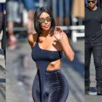 Kim Kardashian braless-see-thru – Outside Jimmy Kimmel Live in L.A.