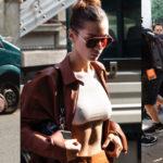 Bella Hadid - leaving Tod's show at Milan Fashion Week