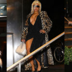 Nicki Minaj - upskirt and cleavy candids in New York