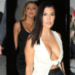 Kourtney Kardashian – cleavy at Craig's Restaurant in West Hollywood