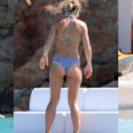 Vogue Williams – bikini candids in Saint Barts
