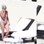 Lady Gaga - sunbathing topless in Mexico