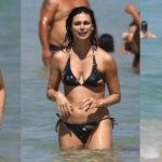 Morena Baccarin – bikini candids at a beach in Rio de Janeiro, Brazil