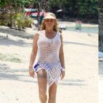 Katie Price Jordan seethru – Celes Beachfront Resort Koh Samui in Thailand