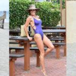 Brooke Burke - pokies on the beach in Malibu