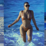 Kim Kardashian - swimwear candids at the beach in Mexico