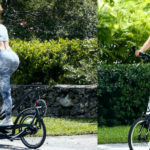 Jennifer Lopez - riding her ElliptiGo in Miami