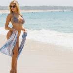 Charlotte McKinney - bikini candids at the beach in L.A.