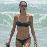 Alessandra Ambrosio - bikini candids on the beach in Florianopolis
