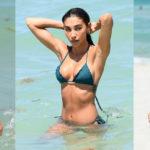 Chantel Jeffries - bikini candids on the beach in Miami