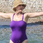 Katy Perry - swimsuit candids on the beach in Greece