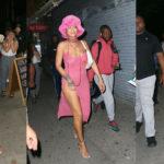 Rihanna - wearing see-thru dress in New York